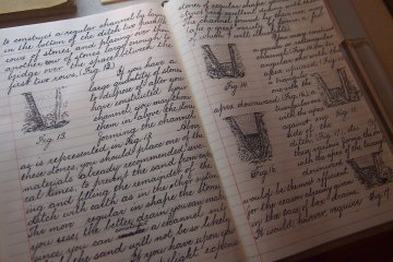 The Japanese students under William S. Clark learnt English and agricultural techniques. This impressive artifact is an example of a student's notebook.