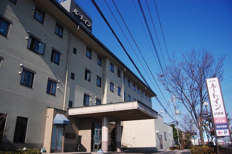 <p>ด้านหน้าโรงแรมรูธ อินน์ อิเซซากิ</p>
