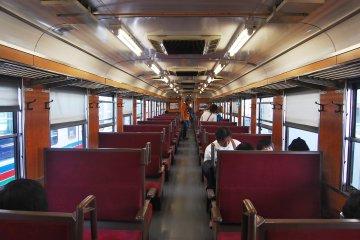 The interior of the locomotive