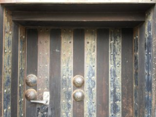 Door Detail at Kishiwada Castle
