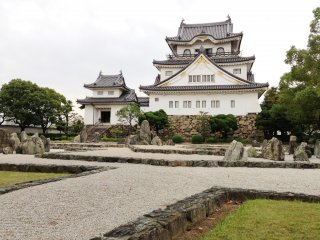 The stone garden at Kishiwada Castle