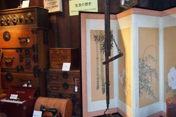 An olden day Japanese home.