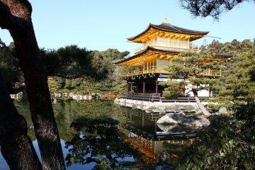 與銀閣寺的門票相同,金閣寺的門票也是一張御守,票價是400円。
