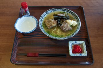 Okinawan soba: You can enjoy this delicious local dish among other local cuisine specialties at the hotel restaurant