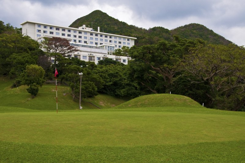 View of the hotel from the golf course