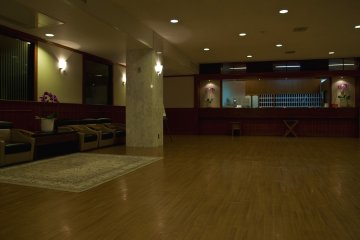 The lobby and the front desk