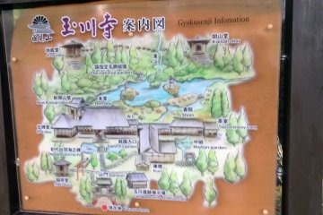 <p>A map in the parking lot shows just how expansive the temple and garden grounds are.</p>