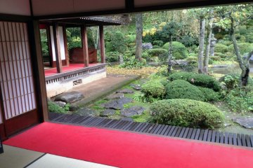 <p>A stunning view of the garden from the veranda of&nbsp;Gyokusenji Temple in the town of Tsuruoka, Yamagata Prefecture</p>