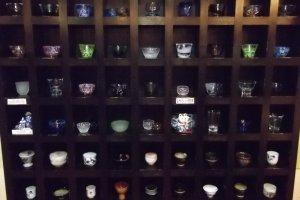 Sake cups and glasses