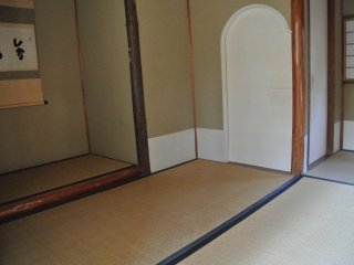 Inside of the Kaisui-Ann, a house for traditional Japanese Tea Ceremony (Taisho Era)