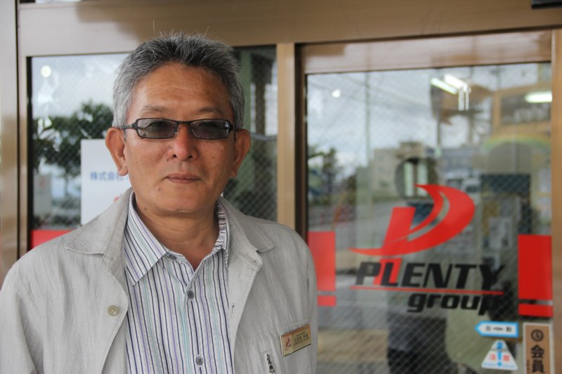 <p>Plenty Staffing founder and CEO Toshimichi Hiyane employs 4,000 Japanese workers on US military bases on Okinawa</p>