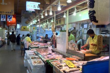more fish than you can imagine at Akita Citizens market one of the freshest fish markets north of Tsukiji