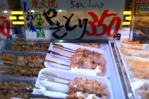 Cook your own yakitori  at Akita Citizens market one of the freshest fish markets north of Tsukiji
