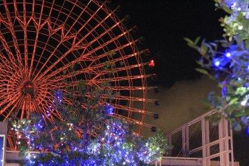 Tempozan Giant Ferris Wheel by night.