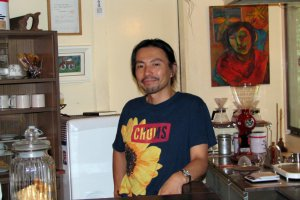 Hiroshi the owner of Cafe Tereya