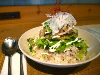 An interesting take on seafood and rice that is absolutely delicious!