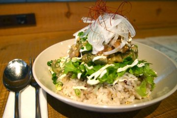 <p>An interesting take on seafood and rice that is absolutely delicious!&nbsp;</p>