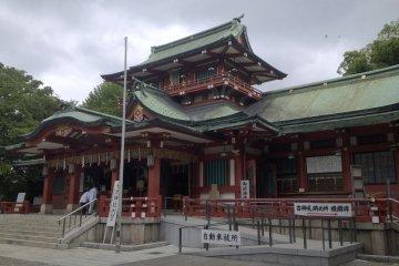 <p>The main shrine building</p>