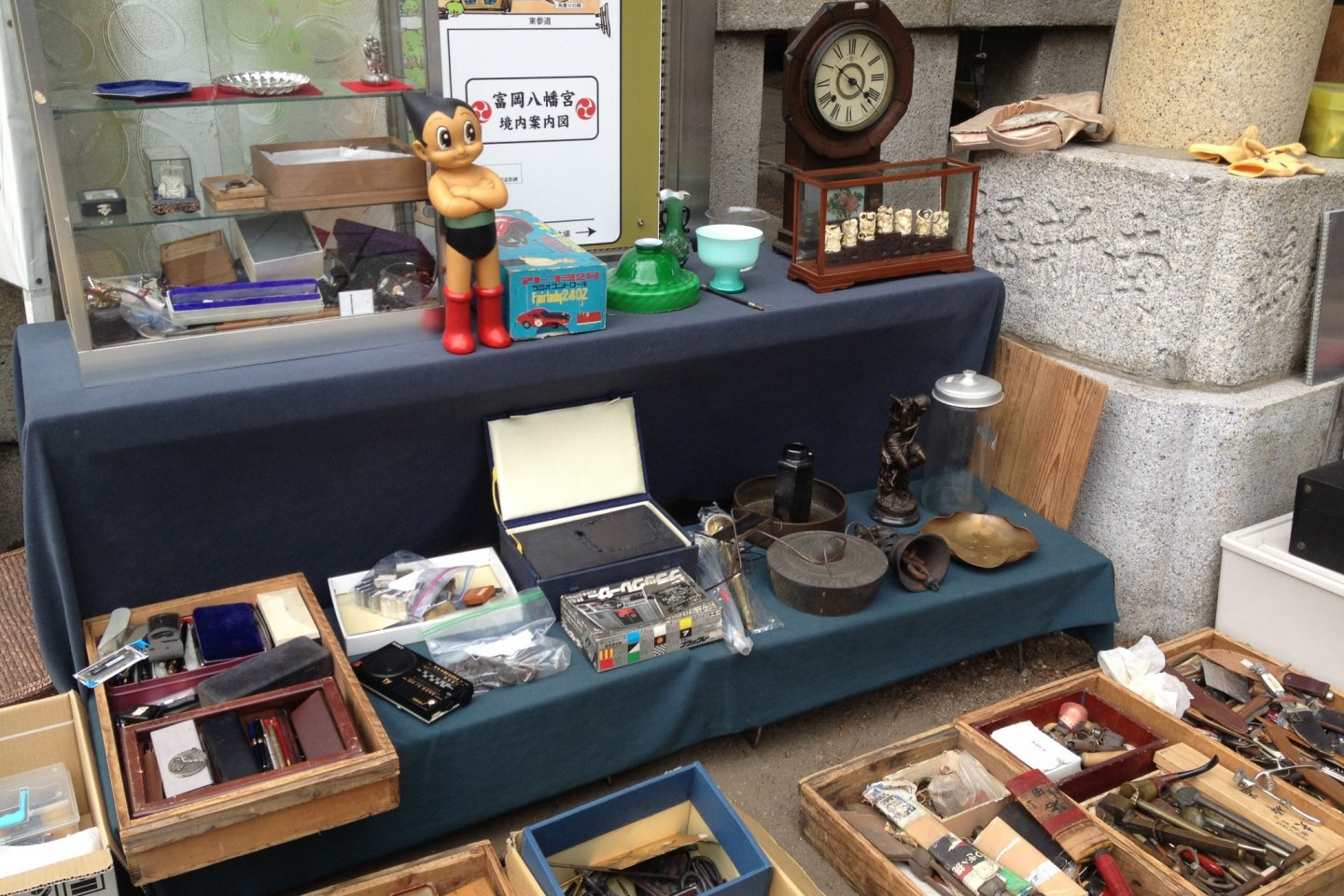 Flea market at Tomioka Hachimangu Shrine