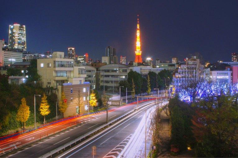 야간의 도쿄 타워