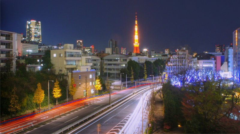 <p>Tokyo Tower as seen from&nbsp;Roppongi Hills&nbsp;</p>