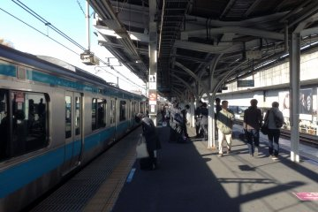 <p>A view from the platform. The station is easily accessed by the Keihin line via a 15-25 minute trip from Tokyo station.&nbsp;</p>