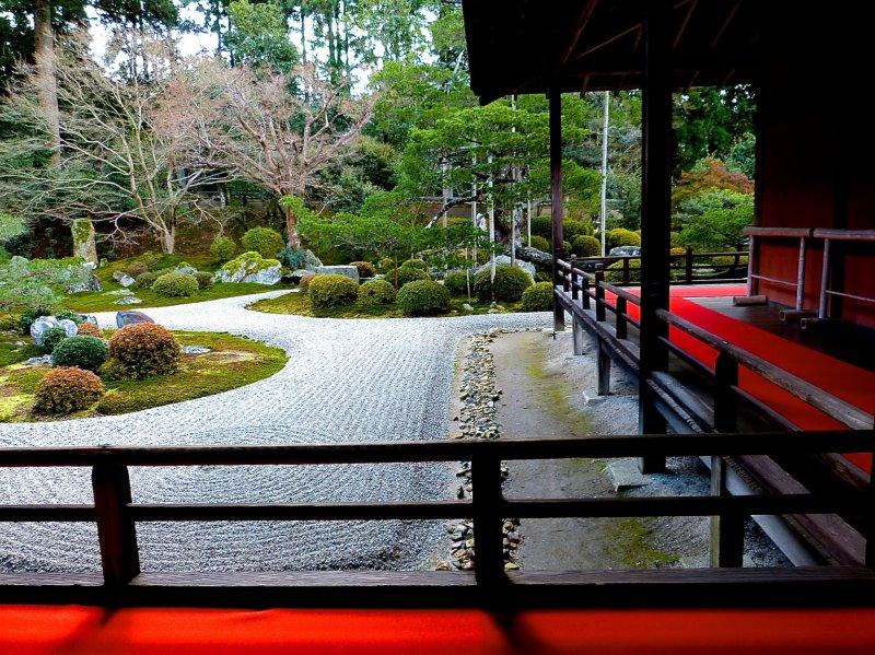 <p>Outside corridors around the garden</p>