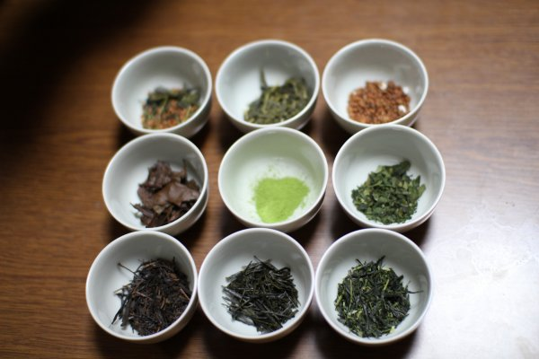 Different types of Japanese green tea