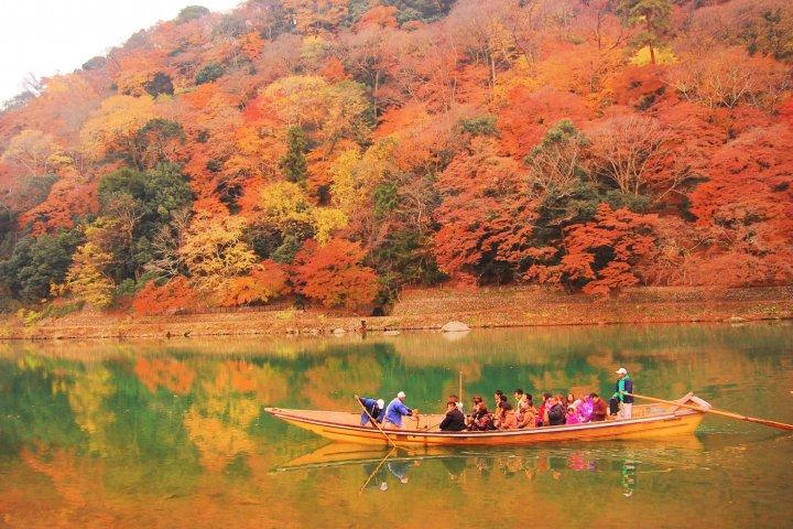 L'Automne à la Rivière Hozu à Kyoto