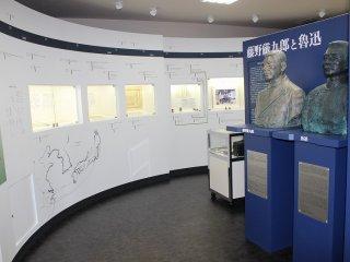 기념관에는 겐쿠로와 루쉰의 생애, 두 사람의 조우와 교류의 경위를 보여주는 전시물이 있어 흥미롭다