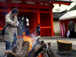 따뜻한 방문객을 위한 모닥불