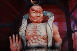 Patung Dewa penjaga kuil Jonen-ji temple