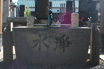 The dragon and purification font or chozuya