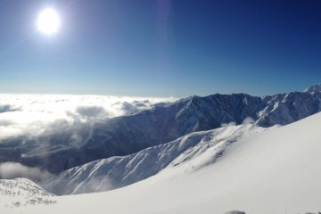 <p>Panorama at the summit.</p>