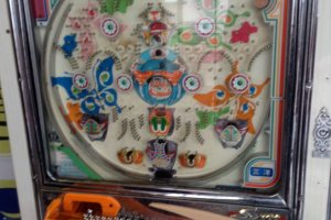 A functioning pinball pachinko game that you are able to play.