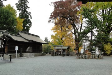 <p>Autumn color at the shrine</p>