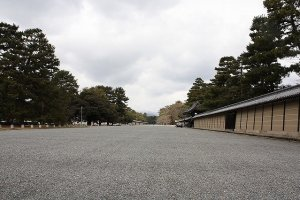 On your right is an earthen wall of the retired Emperor's Imperial Palace