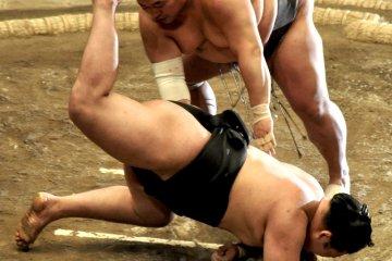 Toyonoshima forces Goeido to take a nosedive