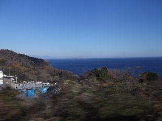 海が見える!