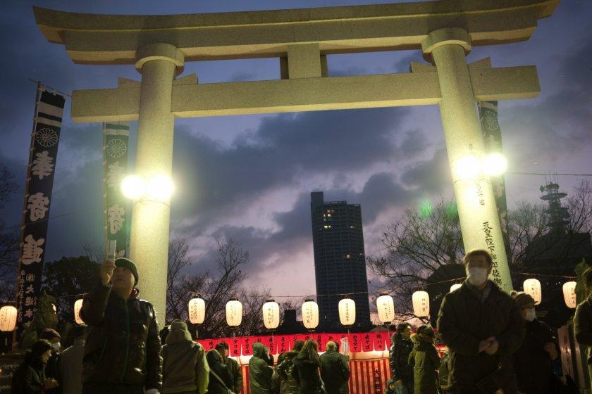 New Year's Eve at Gokoku Jinja
