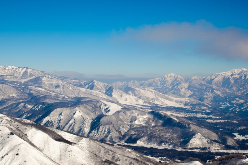 <p>The spectacular view from the top of one of many ski lifts.&nbsp;</p>