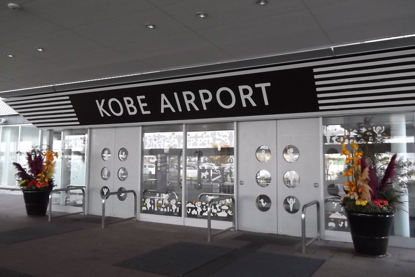 The airport is labeled for ease of identification