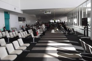 The lounge at the departure gates