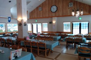 The resort's restaurant serves breakfast, lunch, and dinner at reasonable prices in a warm and inviting setting.