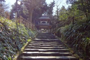 Stairs leading up to the temple.