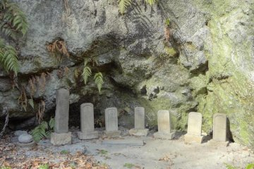 If you make your way to the innermost part of the premises, you will find a cemetery area.