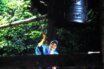 Колокольня в храме Сиракава Хатиман