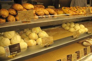 Assorted bread at Kimuraya