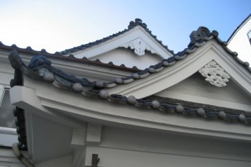 Traditional Japanese roof tiles