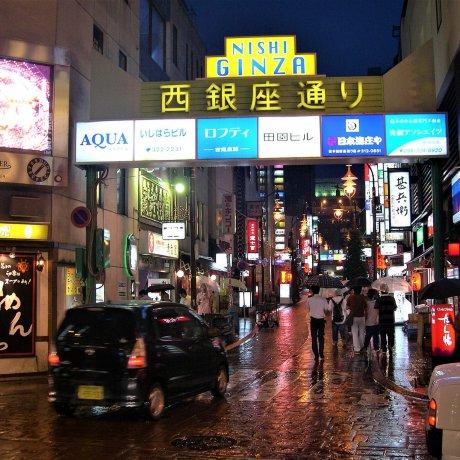 Sakae & Ginza Streets after dark